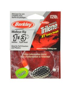Berkley Walleye Rig - Type: Indiana #4, Hook Ct./Size: 3 / 4, Color: Hammered Silver, Float: Yes