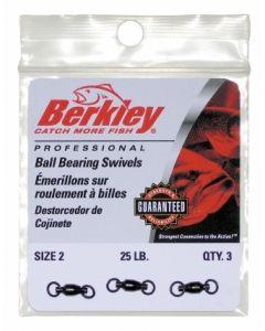 Berkley Ball Bearing Swivels - Size: 2, Lb. Test: 25, Qty: 3