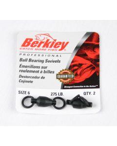 Berkley Ball Bearing Swivels - Size: 6, Lb. Test: 275, Qty: 2