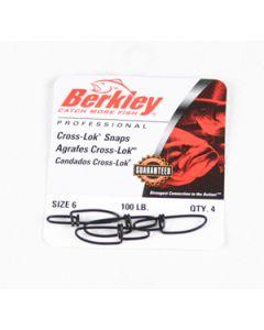 Berkley Cross-Lok Snaps - Size: 6, Lb. Test: 100, Qty: 4