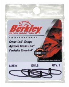 Berkley Cross-Lok Snaps - Size: 9, Lb. Test: 175, Qty: 3