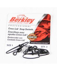 Berkley Cross-Lok Snap/Swivels - Size: 1, Lb. Test: 150, Qty: 144