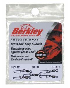 Berkley Cross-Lok Snap/Swivels - Size: 12, Lb. Test: 30, Qty: 5