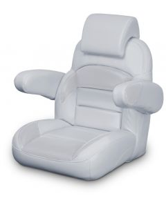 Lexington Low Back Non-Reclining Helm Seat with Arms & Headrest, Gray