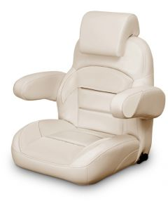 Lexington Low Back Reclining Helm Seat with Arms & Headrest, Tan