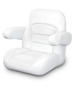 Lexington Low Back Non-Reclining Helm Seat with Arms, White