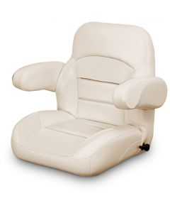 Lexington Low Back Reclining Helm Seat with Arms, Tan