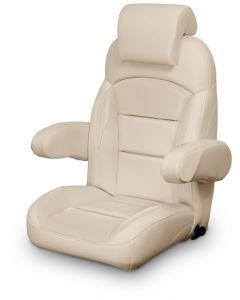 Lexington High Back Reclining Helm Seat with Arms & Headrest, Tan