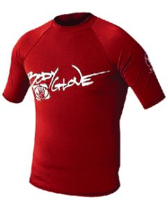 Body Glove Mens Basic Short Sleeve Shirt, Red, Small