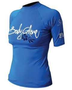 Body Glove Womens Basic Short Sleeve Shirt, Blue, X Small
