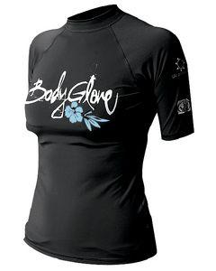 Body Glove Womens Basic Short Sleeve Shirt, Black, X Small