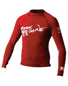 Body Glove Juniors Basic Long Sleeve Shirt, Red, Size 14