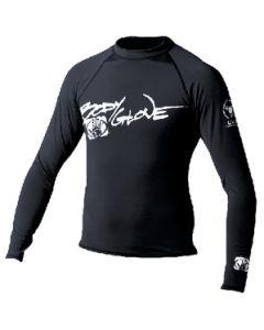 Body Glove Juniors Basic Long Sleeve Shirt, Black, Size 8
