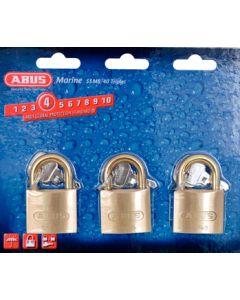 Abus Lock Padlock Brass 1-1/2 Ka 3/Cd