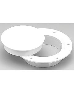 AFI Deck Plate 3in Snap- In Wht Pls - (Marinco)