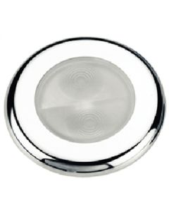 Aqua Signal Bogota White 4-LED Round Stainless Steel Cover Accent Courtesy Boat Utility Light