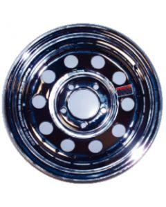 "Loadstar Mod Chrome Trailer Wheel, 14"" x 6"", 5 on 4.5, 1870 lbs"