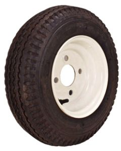 Loadstar Kenda K371 Bias Tire & Wheel Assembly, 480/400-8 LRB, Galvanized, 4 hole