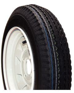 Loadstar Kenda Bias Tire & Steel Spoke w/ stripe Wheel Assembly, LRB, White, 4 on 4