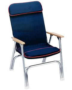 Seachoice PADDED DECK CHAIR W/RED PIPING