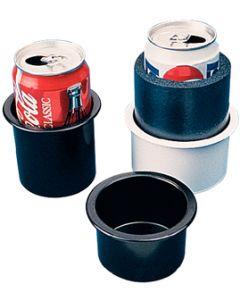 """Seadog Line, 2"""" Black Drink Holder, Recessed Cup Holders"""