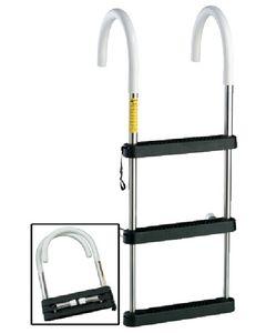"""Garelick 3 Step 11"""" Hook - Telescoping Stainless Steel Gunwale Eez-In Hook Ladder"""
