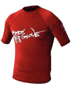 Body Glove Mens Basic Short Sleeve Shirt, Red, X Small