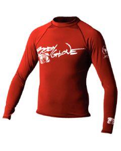 Body Glove Juniors Basic Long Sleeve Shirt, Red, Size 10
