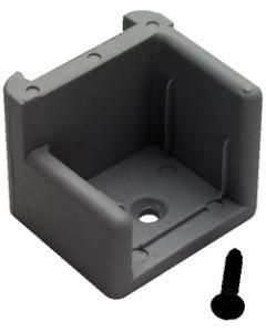 T-H Marine Supply Door Stop Gray W/Ribs Right