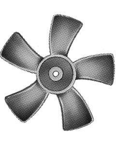 """Ventline by Dexter 6In Fan Blade 1/8In Hole Ccw - 6"""" Polypropylene Fan Blade"""