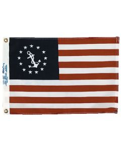 """Taylor Made, US Yacht Ensign Dyed Boat Flag 12"""" x 18"""", Signal Flags"""