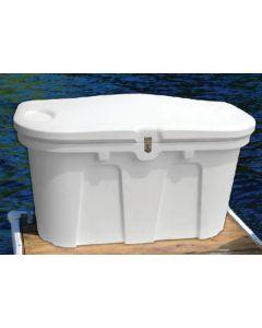 "Taylor Made Dock Box, Classic White, 40""L x 24""W x 26""H"