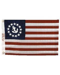 """Taylor Made, US Yacht Ensign Sewn Nylon Boat Flag 12"""" x 18"""", Signal Flags"""