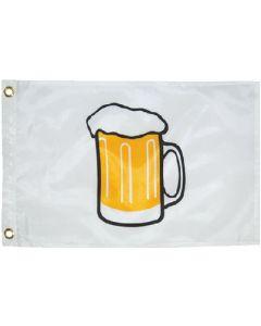 "Taylor Made, White Flag, Beer Mug, 12"" x 18"", Signal Flags"