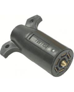 Joseph Pollak Corp 970P 7 Way Plug - 7-Way Black Plastic Connector