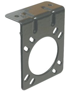 Joseph Pollak Corp Universal Rv 7 Way Brkt-Blk. - Right Angle Mounting Bracket