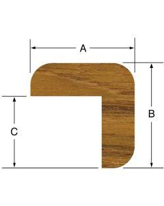"Whitecap L Molding 1-3/16""H x 1-3/16""W, 5' length"