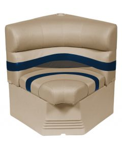 "Wise Premier Pontoon 25"" Radius Corner Section Seat, Mocha-Mocha Java Punch-Midnight-Rock Salt"