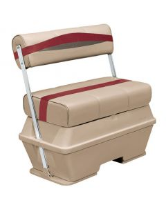 Wise Premier Pontoon 50 Quart Cooler Flip-Flop Seat, Mocha-Mocha Java Punch-Dark Red-Rock Salt