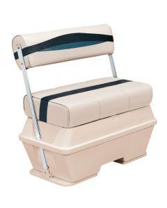 Wise Premier Pontoon 50 Quart Cooler Flip-Flop Seat, Platinum-Platinum Punch-Navy-Cobalt