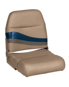 Wise Premier Pontoon Fold Down Boat Seat, Mocha-Mocha Java Punch-Midnight-Rock Salt