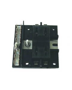 MarineWorks ATO/ATC Style Fuse Block with Ground, 4-Gang, 30A per Circuit, 160A Total for Block