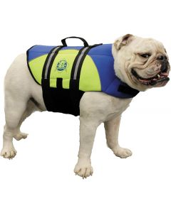 Paws Aboard Neoprene Doggy Vest, L, Blue/Yellow, 50-90 lbs.