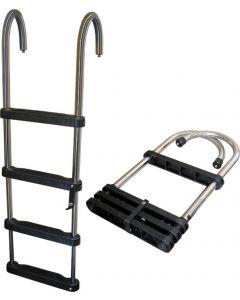 "JIF Marine, LLC Jif Marine Products Telescoping Pontoon Ladder, 51"""