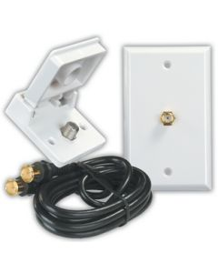 JR Products Int.Ext. Cable Tv Instal.Kitw - Interior/Exterior Tv Installation Kit