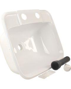 JR Products Lavatory Sink - Molded Lavatory Sink