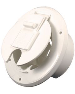JR Products Round Cable Hatch Off/Wht - Cable Hatch