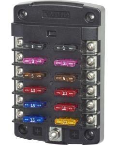 Blue Sea Systems Fuse Block ATO/ATC 12 Circuit - No Cover