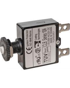 Blue Sea Systems Circuit Breaker, Push Button, 15A 7056