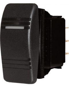 Blue Sea Systems Switch, Contura, Off-On, DPST, Black
